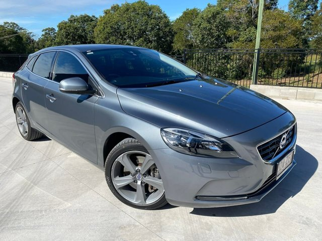 Used Volvo V40 M Series MY16 T4 Adap Geartronic Luxury Cooroy, 2015 Volvo V40 M Series MY16 T4 Adap Geartronic Luxury Grey 6 Speed Sports Automatic Hatchback