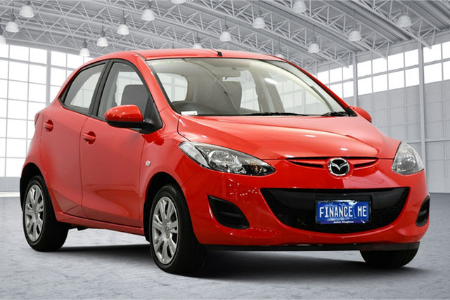 Used Mazda 2 DE10Y2 MY12 Neo Victoria Park, 2011 Mazda 2 DE10Y2 MY12 Neo Red 4 Speed Automatic Hatchback