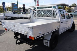 2012 Nissan Navara D40 S6 MY12 RX White 5 Speed Automatic Cab Chassis.