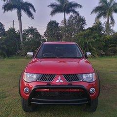2008 Mitsubishi Triton ML MY08 GLX-R Double Cab Red & Burgundy 5 Speed Manual Utility.