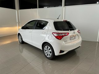 2018 Toyota Yaris NCP130R Ascent White 5 Speed Manual Hatchback.