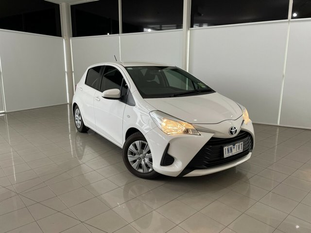 Used Toyota Yaris NCP130R Ascent Deer Park, 2018 Toyota Yaris NCP130R Ascent White 5 Speed Manual Hatchback