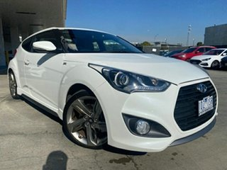2014 Hyundai Veloster FS4 Series II SR Coupe D-CT Turbo White 7 Speed Sports Automatic Dual Clutch.