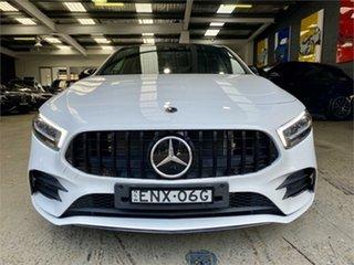 2020 Mercedes-Benz A-Class W177 A35 AMG White Sports Automatic Dual Clutch Hatchback.