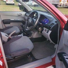 2008 Mitsubishi Triton ML MY08 GLX-R Double Cab Red & Burgundy 5 Speed Manual Utility