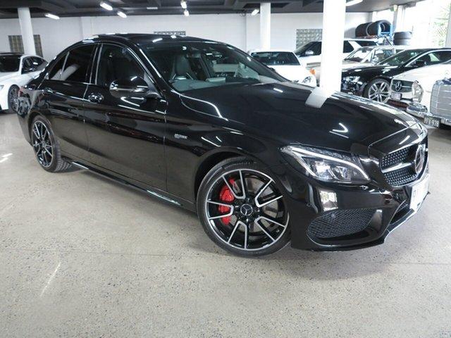 Used Mercedes-Benz C-Class W205 807MY C43 AMG 9G-Tronic 4MATIC Albion, 2016 Mercedes-Benz C-Class W205 807MY C43 AMG 9G-Tronic 4MATIC Black 9 Speed Sports Automatic Sedan