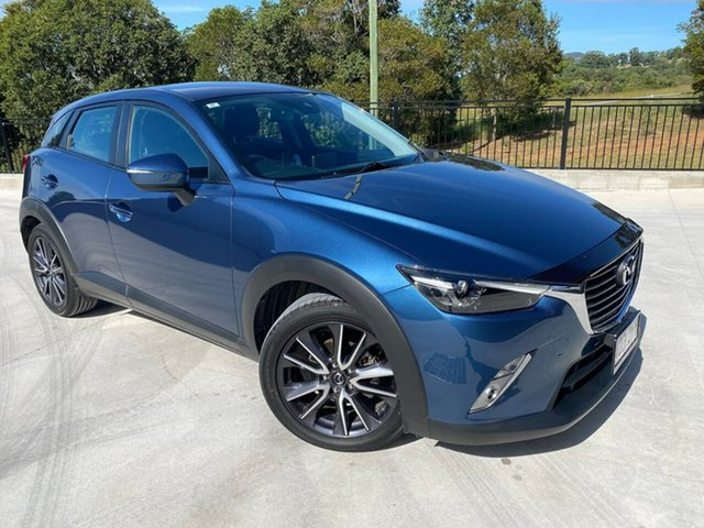 Used Mazda CX-3 DK2W7A sTouring SKYACTIV-Drive Cooroy, 2017 Mazda CX-3 DK2W7A sTouring SKYACTIV-Drive Blue 6 Speed Sports Automatic Wagon