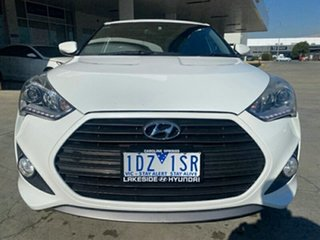 2014 Hyundai Veloster FS4 Series II SR Coupe D-CT Turbo White 7 Speed Sports Automatic Dual Clutch