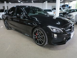 2016 Mercedes-Benz C-Class W205 807MY C43 AMG 9G-Tronic 4MATIC Black 9 Speed Sports Automatic Sedan.