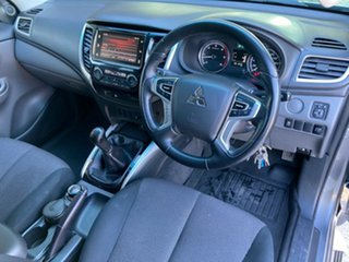 2017 Mitsubishi Triton MQ MY18 GLS Double Cab Grey 6 Speed Manual Utility.