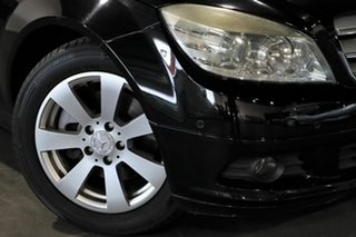 2008 Mercedes-Benz C-Class W204 C200 Kompressor Classic Black 5 Speed Sports Automatic Sedan.