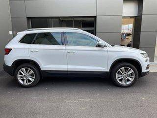 2020 Skoda Karoq NU MY20.5 110TSI DSG FWD White 7 Speed Sports Automatic Dual Clutch Wagon.