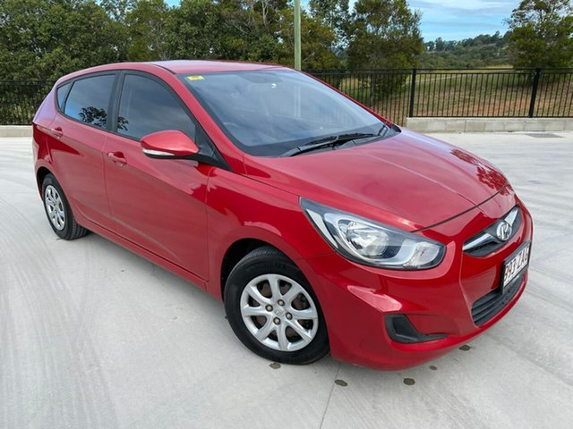 Used Hyundai Accent RB2 Active Cooroy, 2014 Hyundai Accent RB2 Active Red 4 Speed Sports Automatic Hatchback