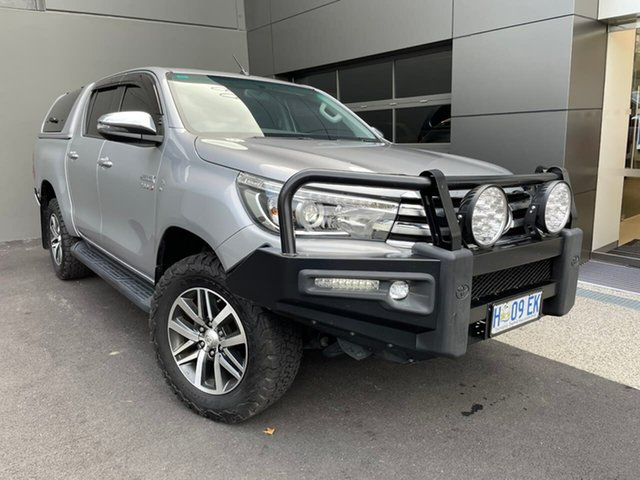 Used Toyota Hilux GUN126R SR5 Double Cab Hobart, 2017 Toyota Hilux GUN126R SR5 Double Cab Silver 6 Speed Sports Automatic Utility