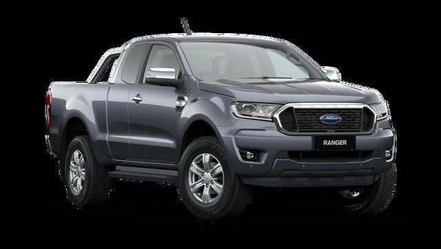 New Ford Ranger XLT Super Cab Hamilton, 2021 Ford Ranger PX MkIII XLT Super Cab Meteor Grey 6 Speed Automatic Pick Up