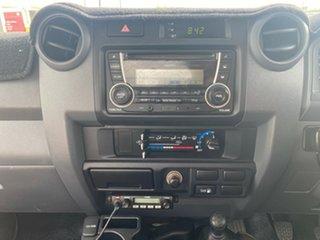 2014 Toyota Landcruiser VDJ79R MY13 GX White/161214 5 Speed Manual Cab Chassis