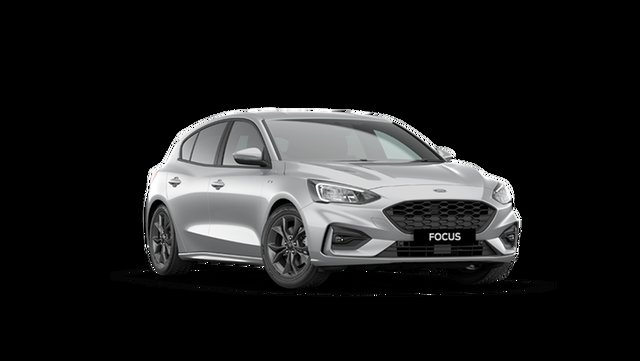 New Ford Focus SA ST-Line Hamilton, 2021 Ford Focus SA ST-Line Moondust Silver 8 Speed Automatic Hatchback