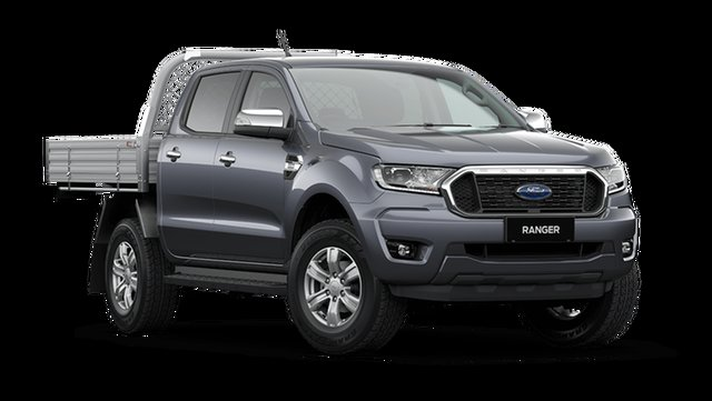 New Ford Ranger Hamilton, 2021 Ford Ranger PX MkIII XLT Double Cab Chassis Meteor Grey 6 Speed Manual Pick Up