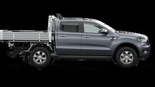 2021 Ford Ranger PX MkIII XLT Double Cab Chassis Meteor Grey 6 Speed Manual Pick Up