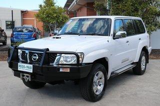 2010 Nissan Patrol GU 7 MY10 ST White 5 speed Manual Wagon.