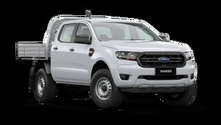 2021 Ford Ranger PX MkIII XL Double Cab Chassis Arctic White 6 Speed Manual Pick Up.