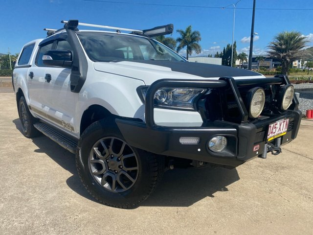 Used Ford Ranger PX MkII 2018.00MY FX4 Double Cab Townsville, 2017 Ford Ranger PX MkII 2018.00MY FX4 Double Cab White/271217 6 Speed Sports Automatic Utility