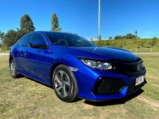 2019 Honda Civic 10th Gen MY19 VTi Brilliant Sporty Blue 1 Speed Constant Variable Hatchback.