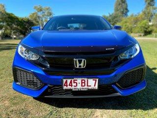 2019 Honda Civic 10th Gen MY19 VTi Brilliant Sporty Blue 1 Speed Constant Variable Hatchback