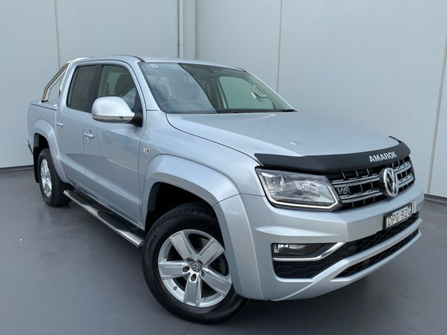 Used Volkswagen Amarok 2H MY17 TDI550 4MOTION Perm Highline Liverpool, 2017 Volkswagen Amarok 2H MY17 TDI550 4MOTION Perm Highline Silver 8 Speed Automatic Utility