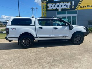2017 Ford Ranger PX MkII 2018.00MY FX4 Double Cab White/271217 6 Speed Sports Automatic Utility.