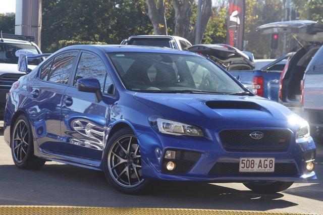 Used Subaru WRX V1 MY16 STI AWD Premium Toowoomba, 2015 Subaru WRX V1 MY16 STI AWD Premium Blue 6 Speed Manual Sedan