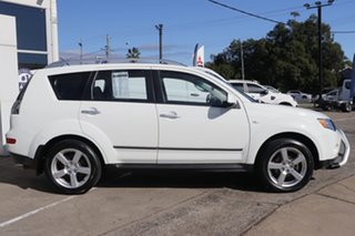 2008 Mitsubishi Outlander ZG MY09 LS White 6 Speed Constant Variable Wagon