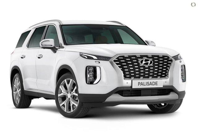 New Hyundai Palisade LX2.V1 MY21 Highlander 2WD Oakleigh, 2021 Hyundai Palisade LX2.V1 MY21 Highlander 2WD White 8 Speed Sports Automatic Wagon
