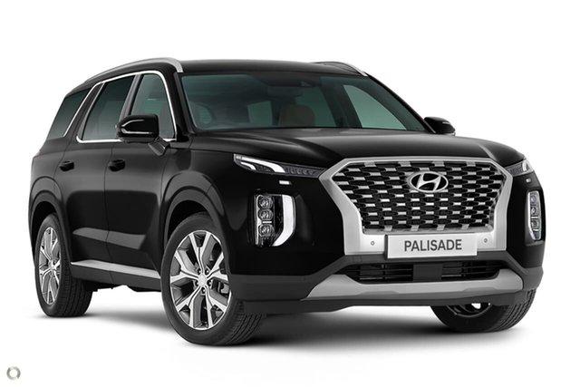 New Hyundai Palisade LX2.V1 MY21 Highlander 2WD Oakleigh, 2021 Hyundai Palisade LX2.V1 MY21 Highlander 2WD Black 8 Speed Sports Automatic Wagon