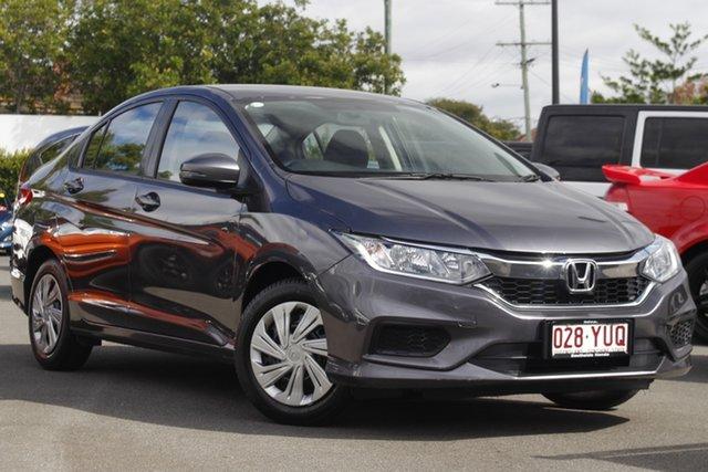 Used Honda City GM MY19 VTi Mount Gravatt, 2018 Honda City GM MY19 VTi Grey 1 Speed Constant Variable Sedan