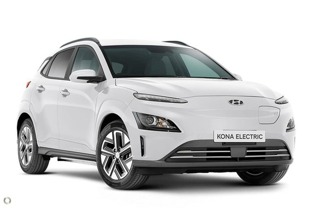 New Hyundai Kona Os.v4 MY21 electric Elite Oakleigh, 2021 Hyundai Kona Os.v4 MY21 electric Elite White 1 Speed Reduction Gear Wagon