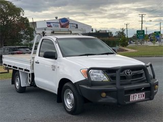 2007 Toyota Hilux TGN16R Workmate White 5 Speed Manual Cab Chassis.