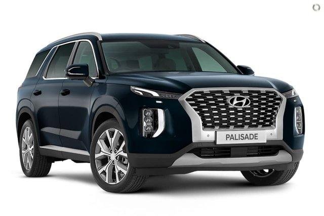 New Hyundai Palisade LX2.V1 MY21 Highlander 2WD Oakleigh, 2021 Hyundai Palisade LX2.V1 MY21 Highlander 2WD Blue 8 Speed Sports Automatic Wagon