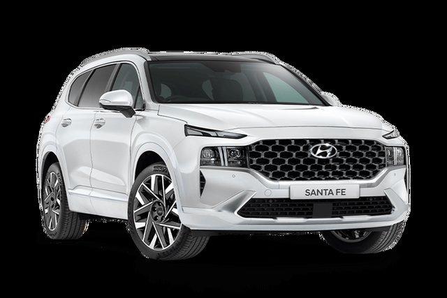 Demo Hyundai Santa Fe Tm.v3 MY21 Highlander DCT Hamilton, 2021 Hyundai Santa Fe Tm.v3 MY21 Highlander DCT Glacier White 8 Speed Sports Automatic Dual Clutch