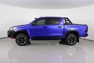 2018 Toyota Hilux GUN126R Rugged X (4x4) Blue 6 Speed Automatic Dual Cab Utility