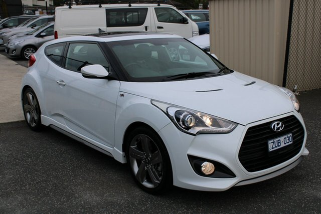 Used Hyundai Veloster FS2 SR Coupe Turbo Ferntree Gully, 2013 Hyundai Veloster FS2 SR Coupe Turbo White 6 Speed Sports Automatic Hatchback