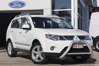 2008 Mitsubishi Outlander ZG MY09 LS White 6 Speed Constant Variable Wagon.