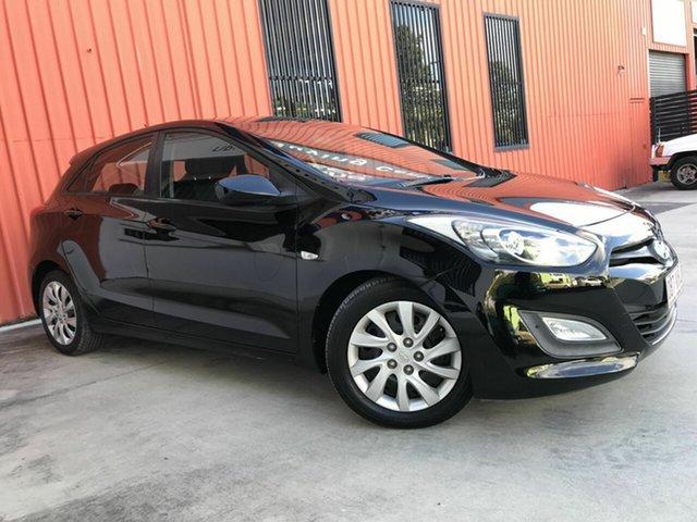 Used Hyundai i30 GD Active Molendinar, 2013 Hyundai i30 GD Active Black 6 Speed Sports Automatic Hatchback