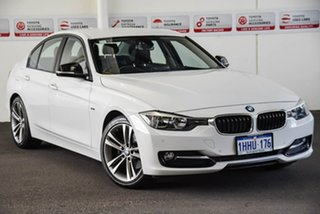 2013 BMW 320d F30 Sport Line White 8 Speed Automatic Sedan.