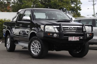 2013 Toyota Hilux KUN26R MY12 SR5 Xtra Cab Black 5 Speed Manual Utility.