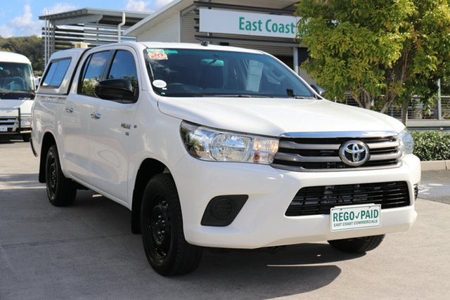 Used Toyota Hilux GGN120R SR Double Cab 4x2 Robina, 2016 Toyota Hilux GGN120R SR Double Cab 4x2 Glacier 6 speed Automatic Utility