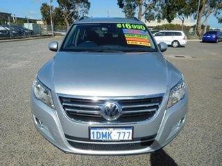 2010 Volkswagen Tiguan 5N MY11 103TDI DSG 4MOTION Silver 7 Speed Sports Automatic Dual Clutch Wagon.