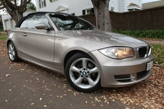 2008 BMW 1 Series E88 120i Grey 6 Speed Automatic Convertible.