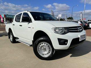 2011 Mitsubishi Triton MN MY11 GLX Double Cab 4x2 White 5 Speed Manual Utility.