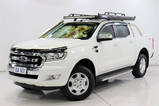 Used Ford Ranger PX MkII XLT Double Cab 4x2 Hi-Rider Brooklyn, 2016 Ford Ranger PX MkII XLT Double Cab 4x2 Hi-Rider White 6 Speed Sports Automatic Utility